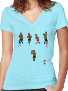 Tyson TKO 2 Women's Fitted V-Neck T-Shirt