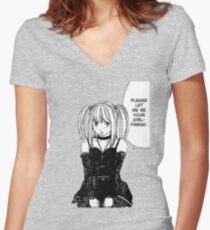 misa Women's Fitted V-Neck T-Shirt