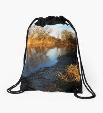 flaming shore II Drawstring Bag