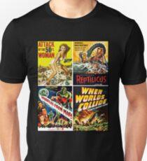 Camiseta unisex Colección de carteles de ciencia ficción de los años 50 # 2