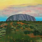 Uluru at Dusk by Pam Wilkie