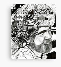Bob Ross Becomes His Art Canvas Print