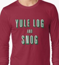 Yule Log and Snog -Green Long Sleeve T-Shirt