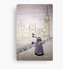 Winter Dalek Canvas Print