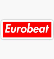 Supreme Eurobeat Sticker
