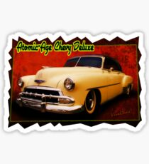 Atomic-Age Chevy Deluxe Sticker