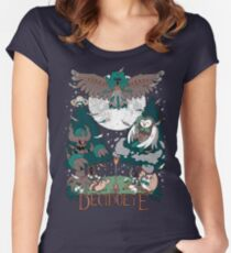 Starter's family: Decidueye Women's Fitted Scoop T-Shirt