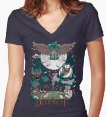 Starter's family: Decidueye Women's Fitted V-Neck T-Shirt