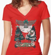 Starter's family: Decidueye Women's Fitted V-Neck T-Shirt