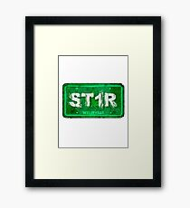 ST1R - License plate Framed Print