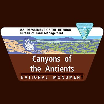 Canyons of the Ancients National Monument Sign, Colorado by worldofsigns