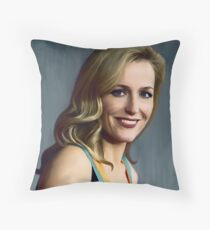 Gillian Anderson oil color painting  Throw Pillow