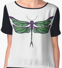 Dragonfly - Dark Colours Chiffon Top