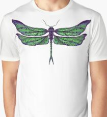 Dragonfly - Dark Colours Graphic T-Shirt