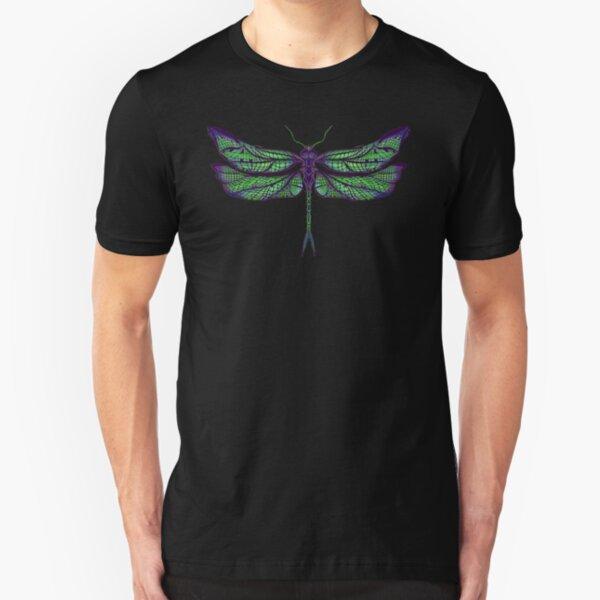 Dragonfly - Dark Colours Slim Fit T-Shirt