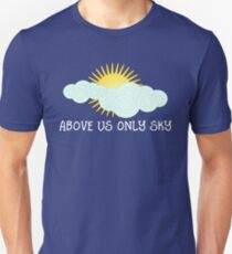 Imagine - John Lennon - Above Us Only Sky Lyrics Text Unisex T-Shirt
