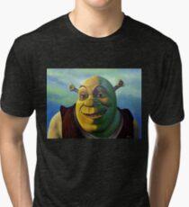 Shrek The Ogre Painting Tri-blend T-Shirt