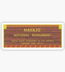 Navajo National Monument Sign, Arizona Sticker