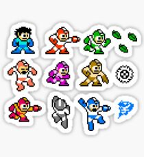 MegaMan Rainbow Sticker