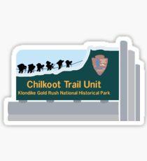 Chilkoot Trail Unit, Klondike Gold Rush National Park Sign, Alaska Sticker