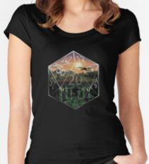 D&D roll 20 Fitted Scoop T-Shirt