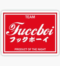 Team Fuccboi Decal Slap Sticker