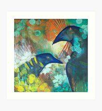 Ravens im Garten Kunstdruck