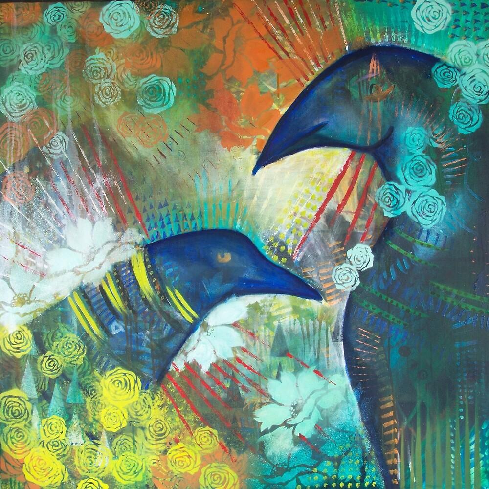 Ravens in the Garden by OwlUnderSky