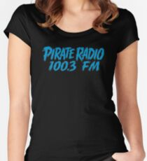 Pirate Radio - 100.3 FM - Shirt Women's Fitted Scoop T-Shirt