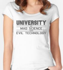University of Mad Science and Evil Technology Women's Fitted Scoop T-Shirt