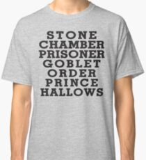 Stone Chamber Prisoner Goblet Order Prince Hallows Classic T-Shirt