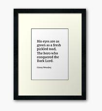 Ginny Weasley Poem Framed Print