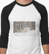 I'm not afraid of the big bad wolf... Men's Baseball ¾ T-Shirt
