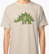 Stegosaurus Lace - Green Classic T-Shirt
