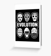 Goalie Hockey Mask Evolution Greeting Card
