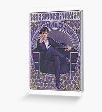 Sherlock Art Nouveau Greeting Card