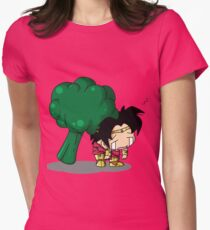 Brolly Broccoli Womens Fitted T-Shirt