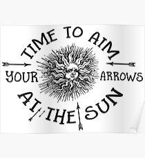 The Doors lyrics - take it As It Comes - Arrows Sun Vintage Design Poster