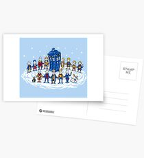 Doctor Who - Doctor Seuss Christmas Postcards