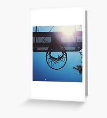 Shining hoops star Greeting Card