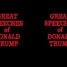 GREAT SPEECHES OF Donald Trump Empty Book by Greenbaby