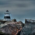 Margaretsville Lighthouse by Roxane Bay