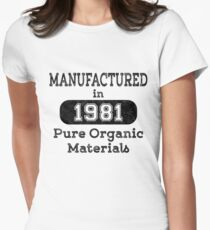 Manufactured in 1981 Womens Fitted T-Shirt