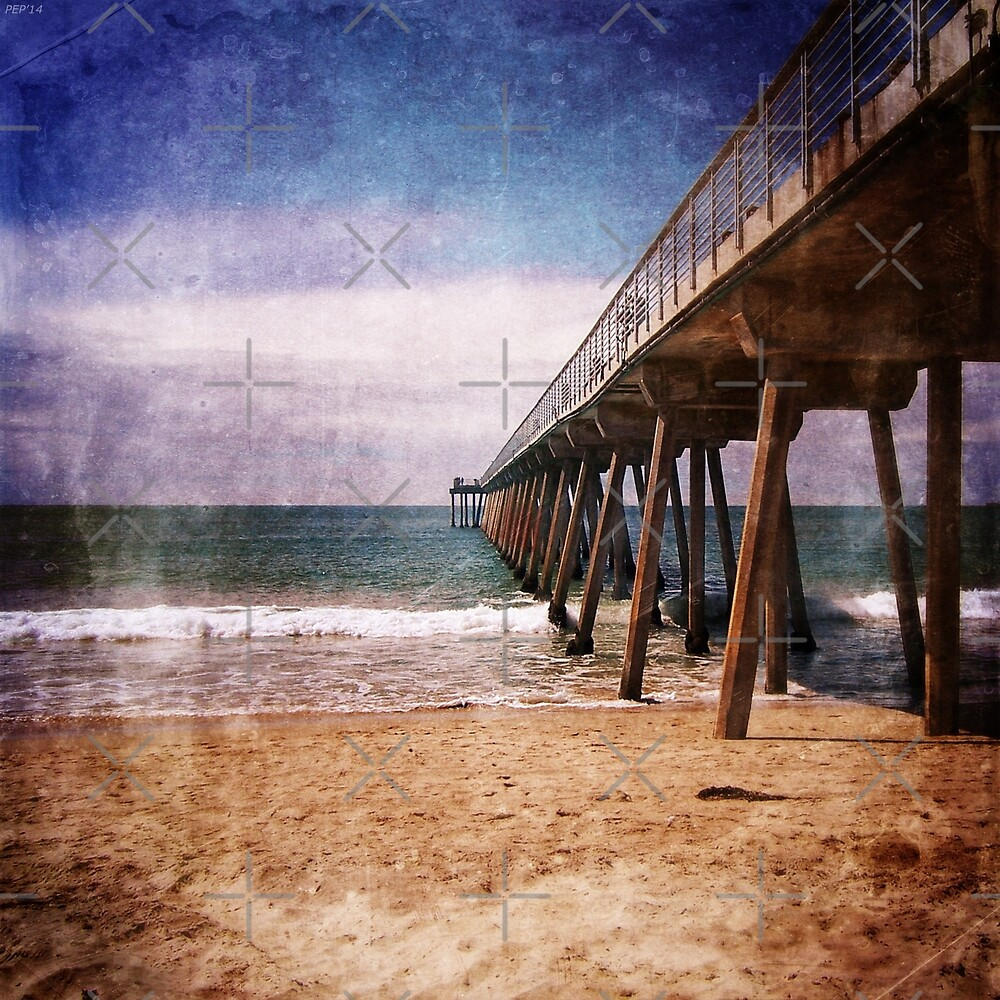 California Pacific Ocean Pier by Phil Perkins