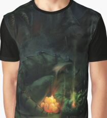 Bed Time Dragon Graphic T-Shirt