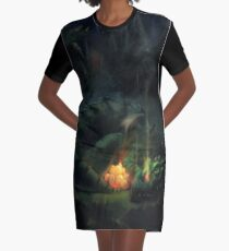 Bed Time Dragon Graphic T-Shirt Dress