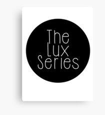 The Lux Series - Black Circle Canvas Print