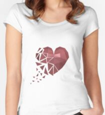 Drifting Heart Women's Fitted Scoop T-Shirt