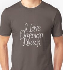 I Love Daemon Black Script T-Shirt