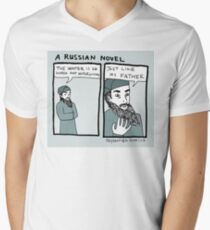 A Russian Novel V-Neck T-Shirt